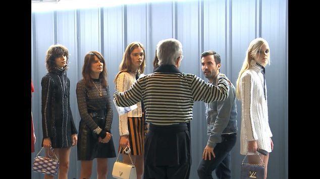 Jean-Paul Goude recrée les backstages du défilé Vuitton pour ELLE
