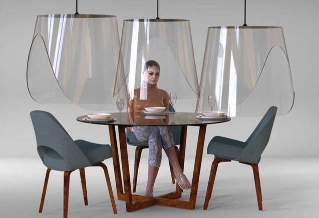 Plex'Eat : les cloches en plexiglas qui sonnent le futur de la restauration