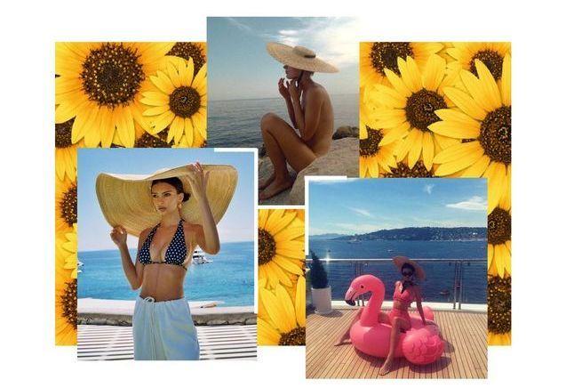 Emrata, Kendall Jenner, Louise Follain : romantiques avec un chapeau de paille
