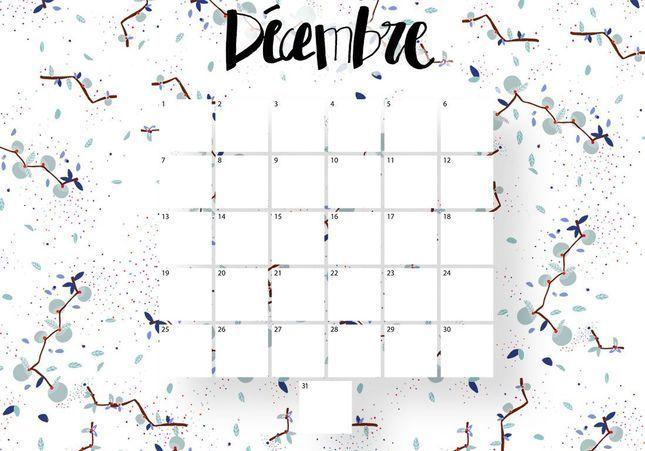 Imprimez votre calendrier du mois de décembre !