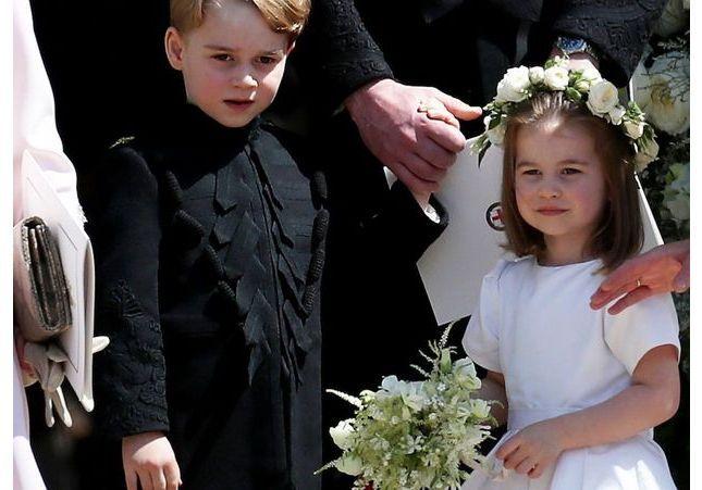George et Charlotte craquants au mariage de l'une des meilleures amies de Kate Middleton