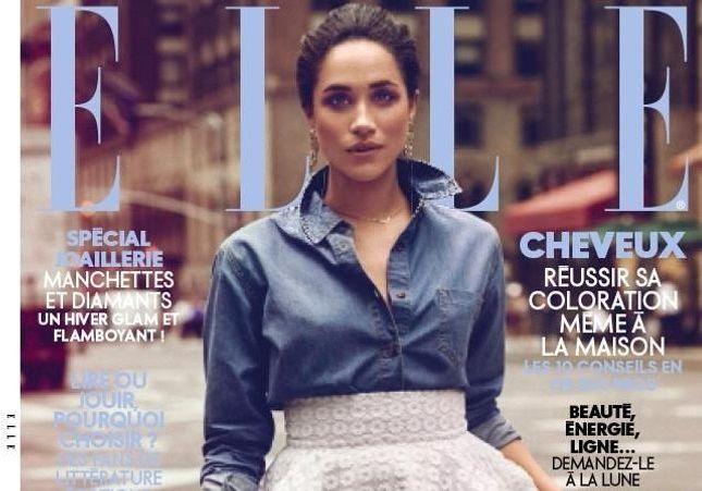 Meghan Markle en couverture de ELLE après l'annonce de son mariage
