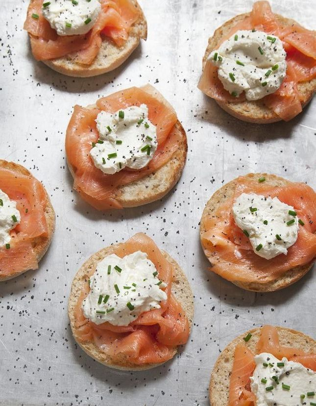 Muffins saumon mariné et cream cheese