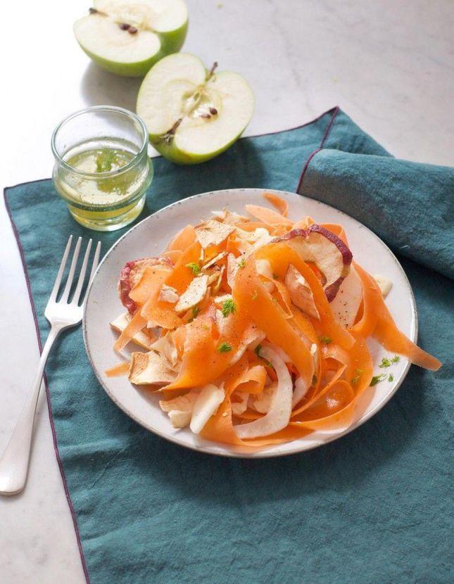 Salade aux chips de pomme