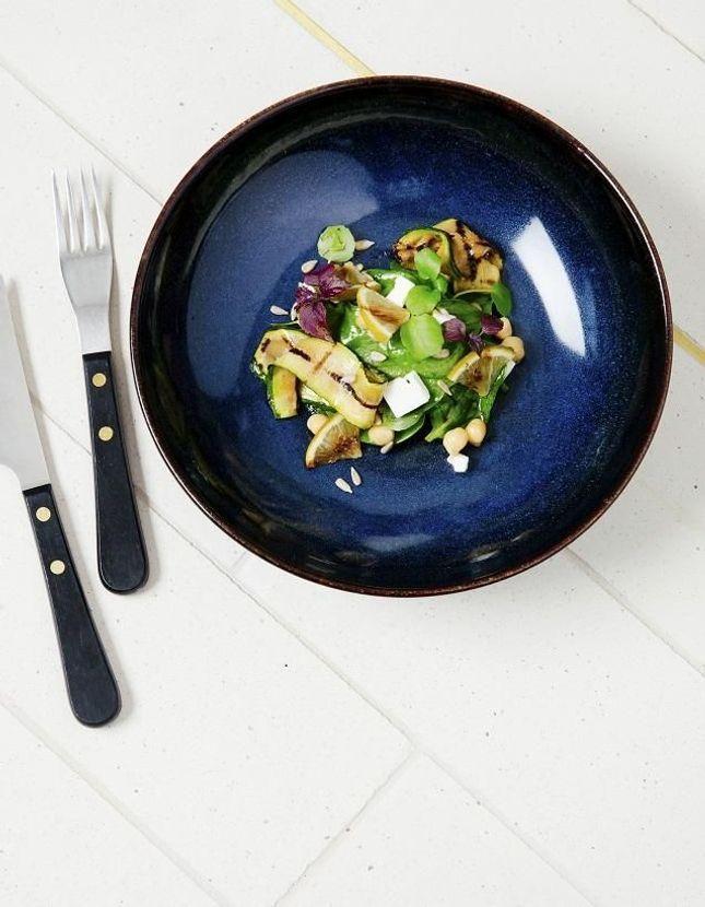 Salade courgettes et citron grillés
