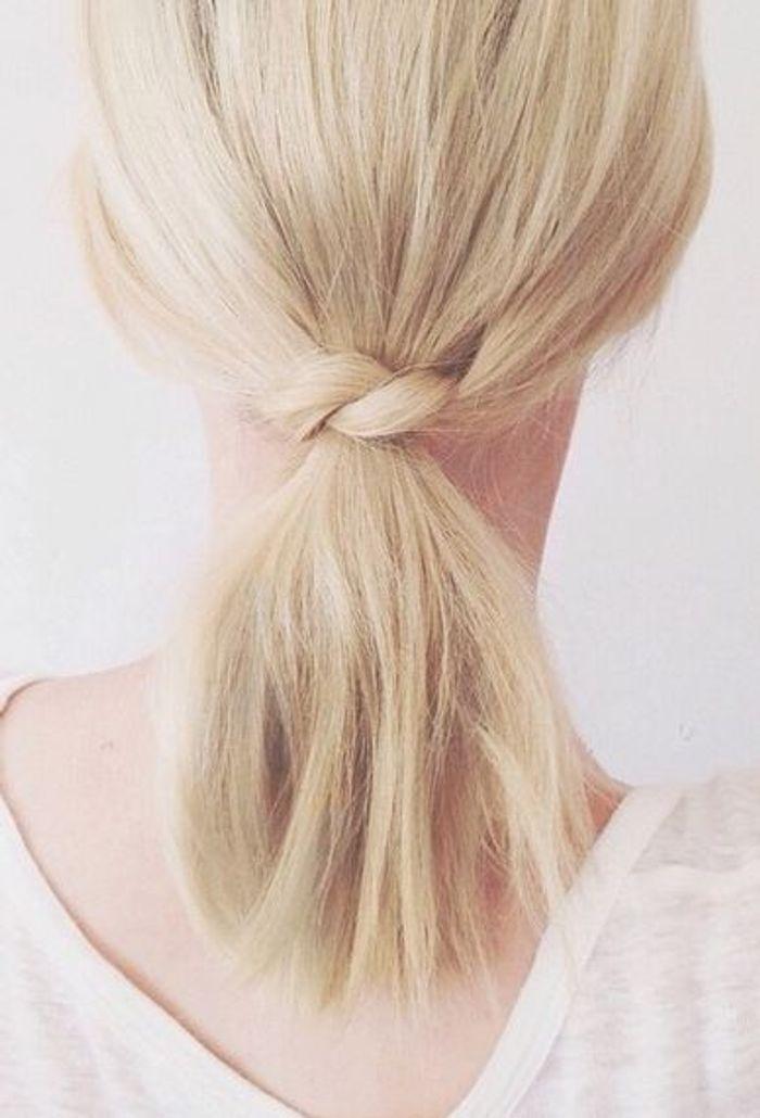 Sehr Cheveux mi longs réunis en queue-de-cheval originale automne-hiver  KH75