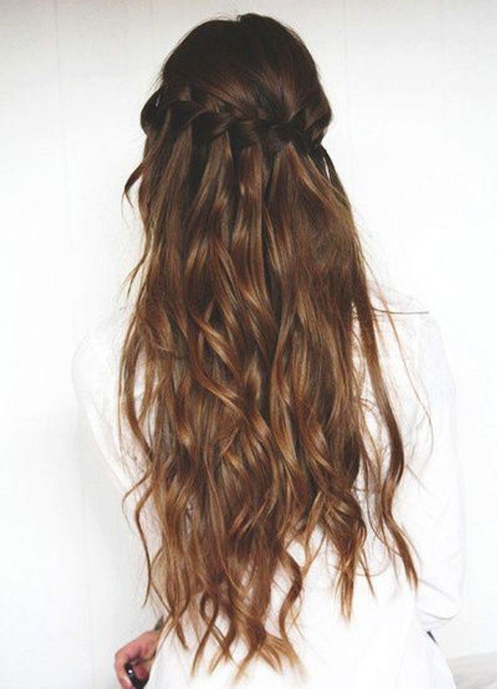 Populaire Coiffure cheveux longs avec couronne de tresses - Coiffure cheveux  IK34
