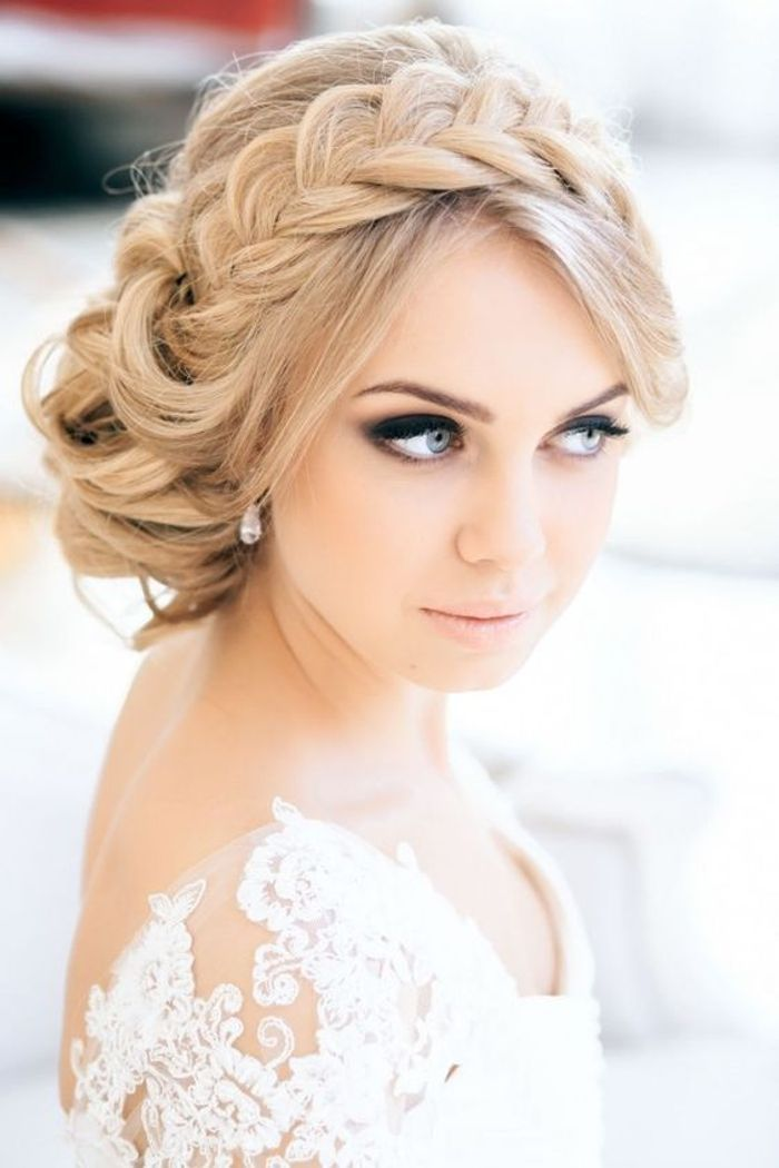 Bien-aimé Coiffure de mariée tresse headband - Les plus jolies coiffures de  HT41