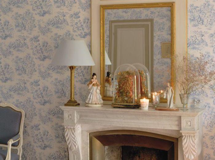 la toile de jouy investit la d co elle d coration. Black Bedroom Furniture Sets. Home Design Ideas