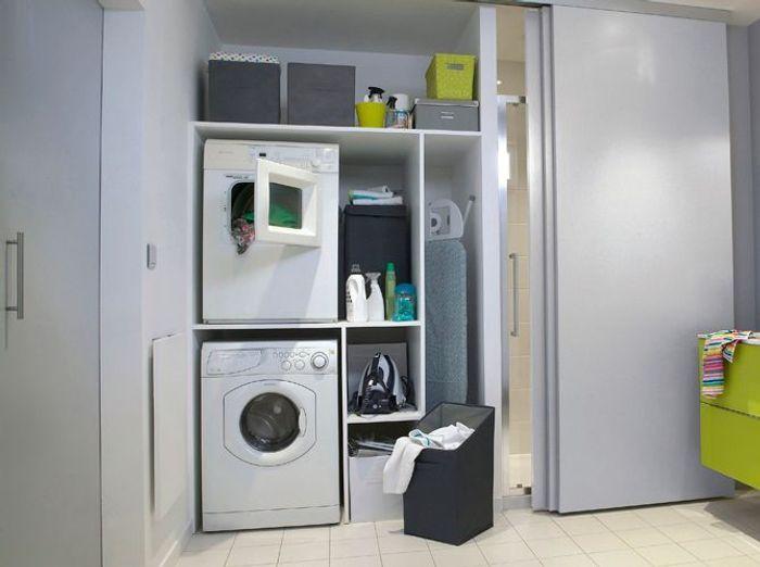 Extrêmement Bien intégrer sa machine à laver dans son intérieur - Elle Décoration OP13