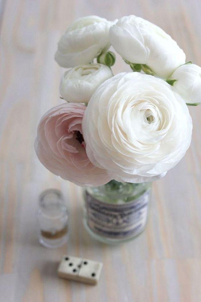 Bien-aimé Bouquet de fleurs blanches et roses - 25 bouquets de fleurs  OA05