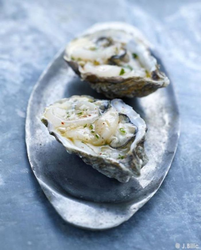 Häufig Repas de Noël sans gluten : Ceviche de Saint-Jacques et d'huîtres  TR49