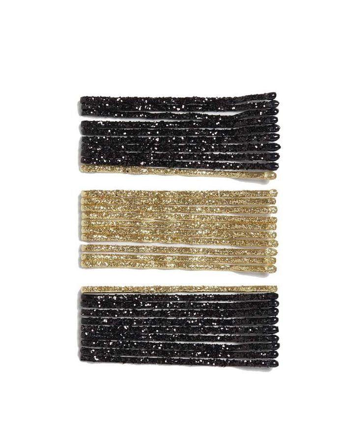 Glitter hair pins, Monki, 4 €