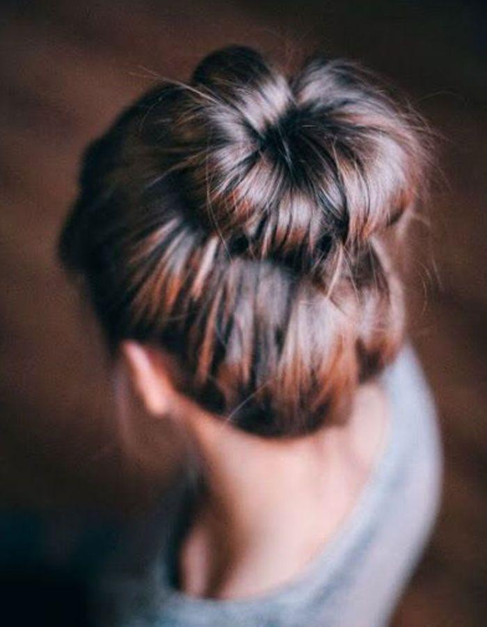 Coiffure facile cheveux longs