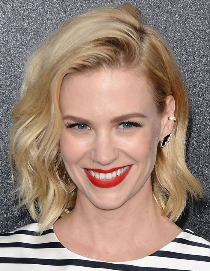 le carr flou de january jones le carr flou nouvelle coupe pr f r e des stars elle. Black Bedroom Furniture Sets. Home Design Ideas