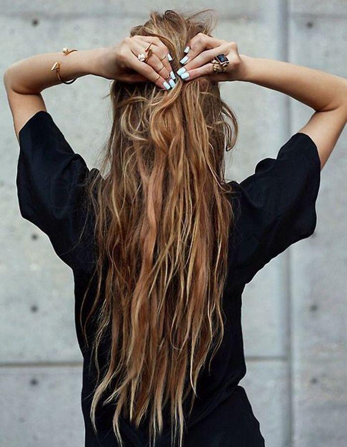 Coupe de cheveux long naturel
