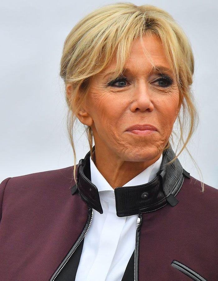 2) La queue-de-cheval de Brigitte Macron