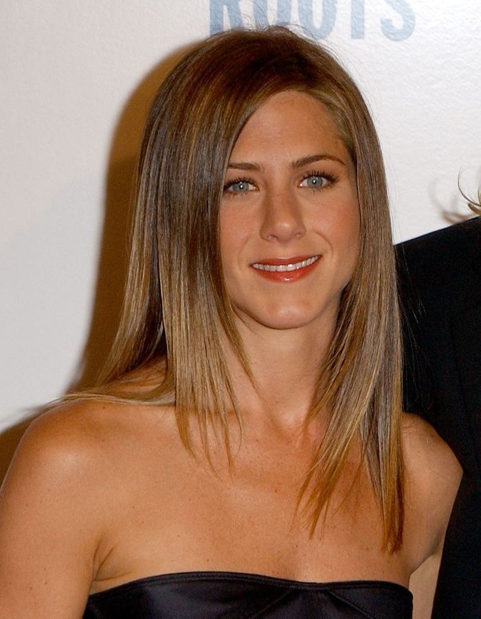 Le lissage baguette de jennifer aniston en 2003 l volution coiffure de jennifer aniston elle - Coiffure jennifer aniston ...