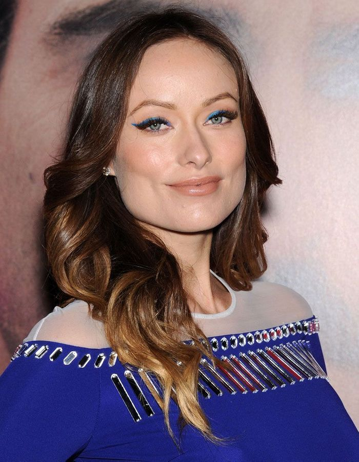 l eye liner bleu n on d olivia wilde maquillage bleu les stars plongent dans la tendance elle. Black Bedroom Furniture Sets. Home Design Ideas