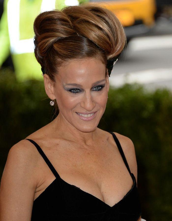 Le chignon artistique de Sarah Jessica Parker - Looks beauté du Met ball 2014 : inspirez-vous ...