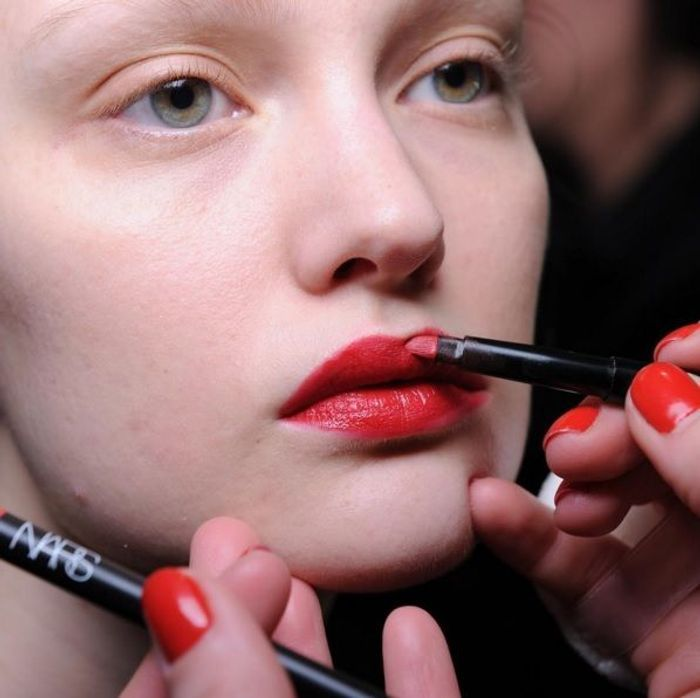 Le rouge à lèvres rouge du défilé Mansur Gavriel