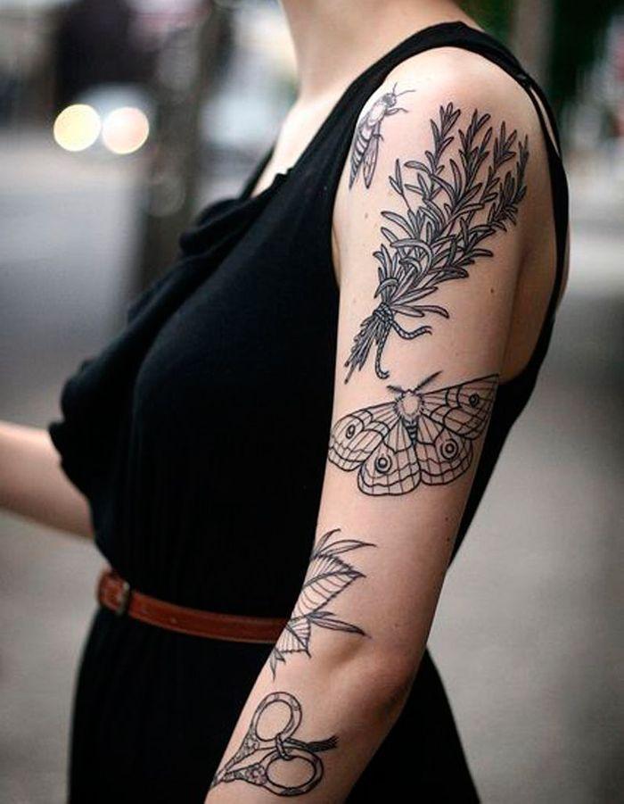 Tatouage papillon encre noire tatouage papillon 20 jolies id es rep r es sur pinterest elle - Tatouage blanc sur peau noir ...