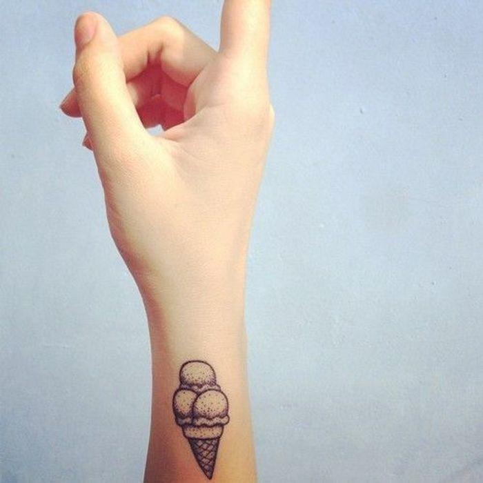 tatouage poignet icecream tatouage 40 jolies id233es