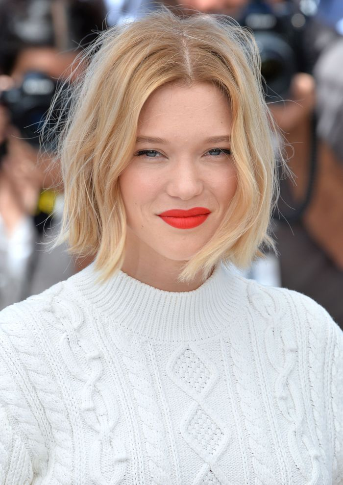 le carr flou de lea seydoux au festival de cannes 2016 les plus belles coiffures des stars au. Black Bedroom Furniture Sets. Home Design Ideas