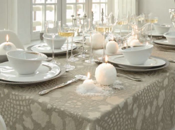 4 d co de table pour no l elle d coration - Decoration de table de noel blanche ...