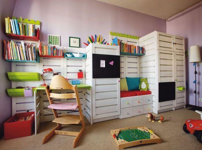 Chambres d 39 enfants misez sur la couleur elle d coration - Astuce de decoration maison ...
