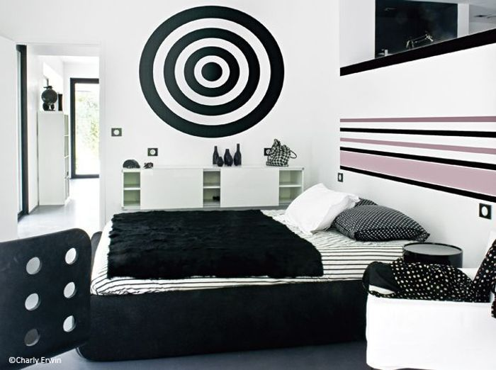 d coration 100 noir et blanc elle d coration. Black Bedroom Furniture Sets. Home Design Ideas