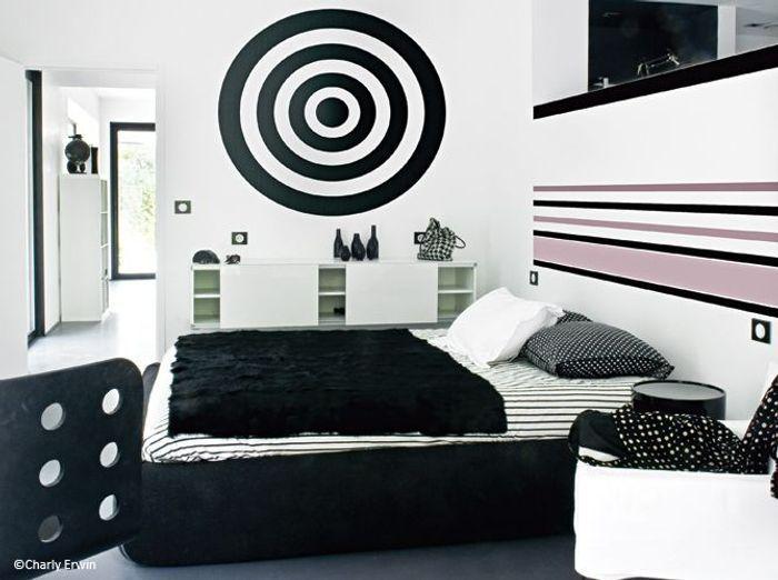 D coration 100 noir et blanc elle d coration for Chambre noire et blanc