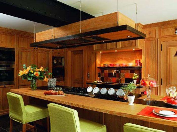 Idee Deco Cuisine Blanc Et Rouge : Les matériaux dans la cuisine  Elle Décoration