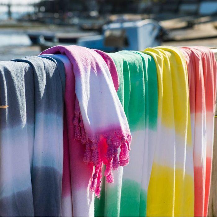 Serviette tie and dye
