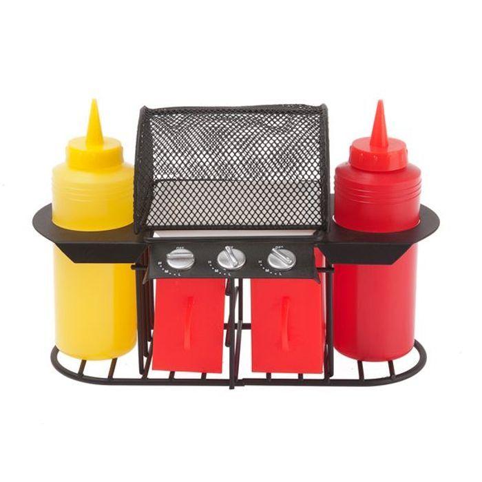 Le distributeur de ketchup et moutarde