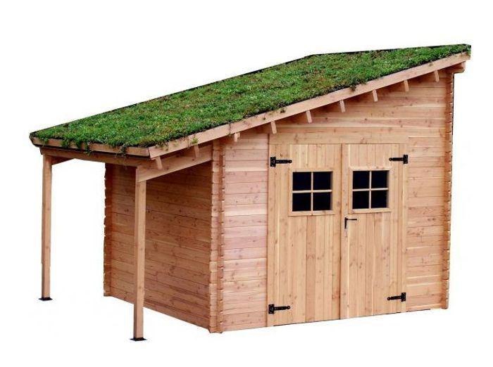 Abri de jardin toit vegetal botanic
