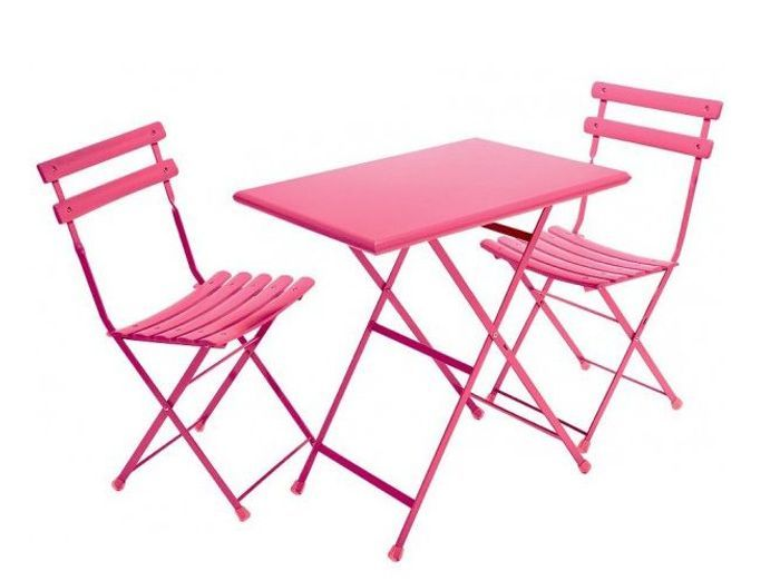 table chaises roses botanic - Chaise Jardin Colore