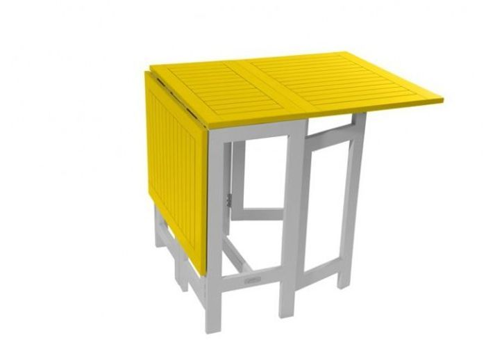 Table de jardin pliante jaune