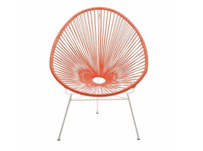 Chaise ficelle orange