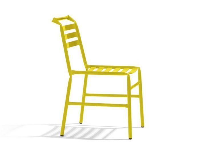 Chaise jardin jaune