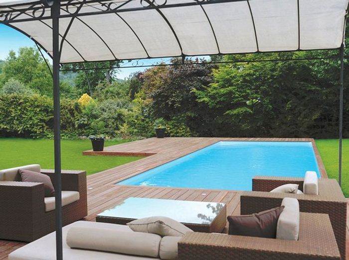 Un coin piscine ultra d co elle d coration Atmosphere agreable piscine jardin