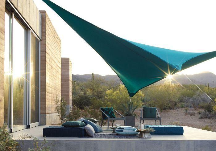 Une terrasse zen grâce aux assises de sol