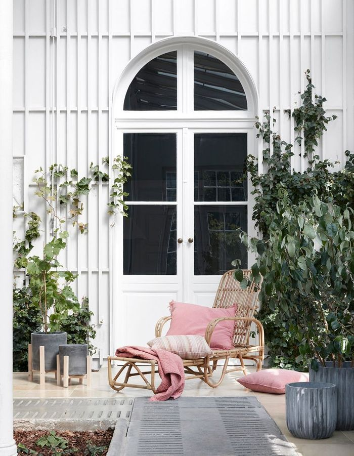 Du linge de maison outdoor rose pâle