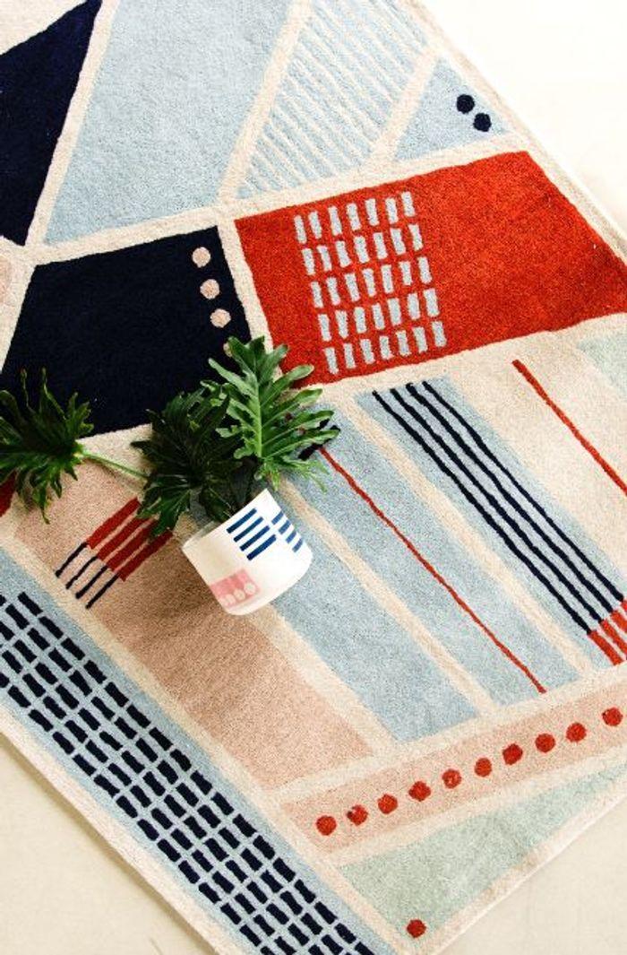 Les tapis en laine inspirés des façades de Johannesburg et Cape Town de Fabrica