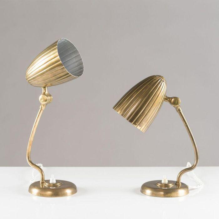 Lampes de Bureau Grace Vintage d'Arvid Böhlmark, 1930s