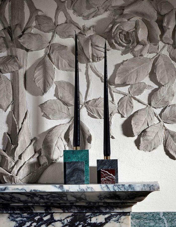 Bougeoirs en marbre