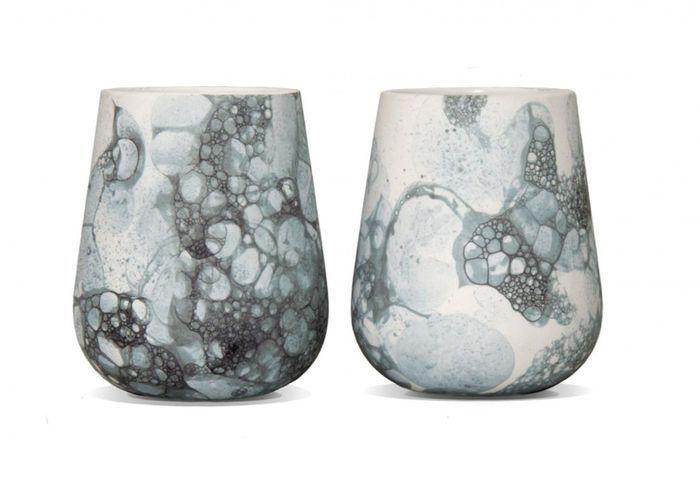 Tasses Bubblegraphy par Adrianus Kundert & Thomas van der Sman pour Oddness, Set de 2