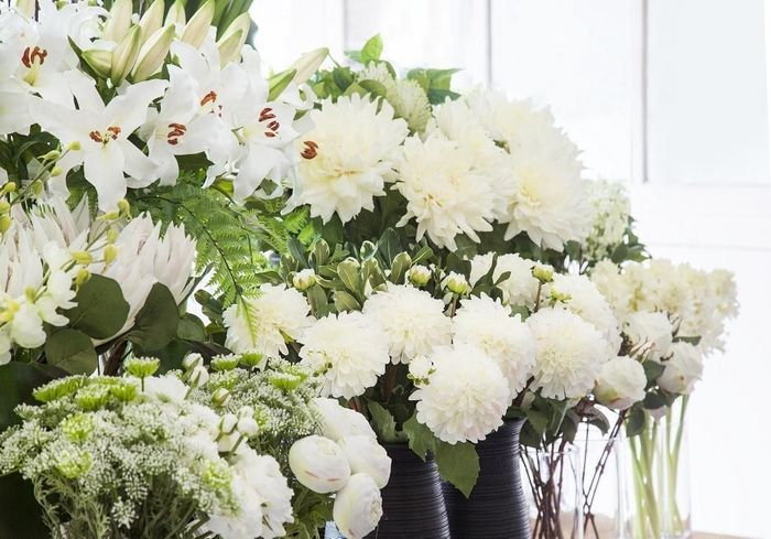 Des fleurs artificelles fraiches