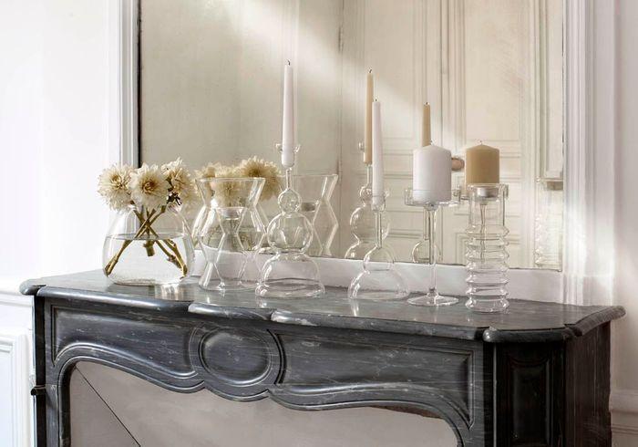 Vases et bougeoirs en verre Habitat