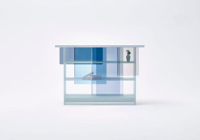 "Catégorie Meuble : vitrine ""Layers"" de Glas Italia par Nendo"